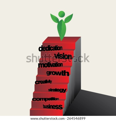 creative stairs concept for success  - stock vector