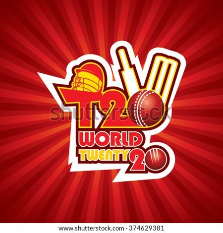 creative T20 cricket world cup banner design vector - stock vector