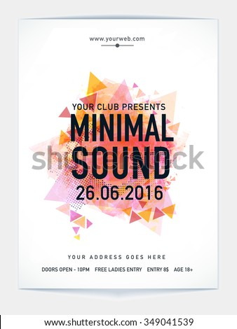Creative Template, Banner or Flyer with abstract design for Music Party celebration. - stock vector