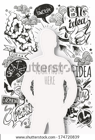 Creative template for your photo. Idea - stock vector