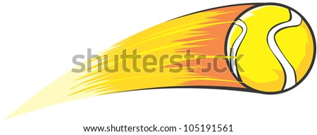 Creative Tennis Ball Illustration / Fast moving tennis ball like a comet - stock vector