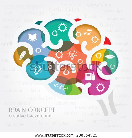 Creative thinking. Conceptual background. - stock vector