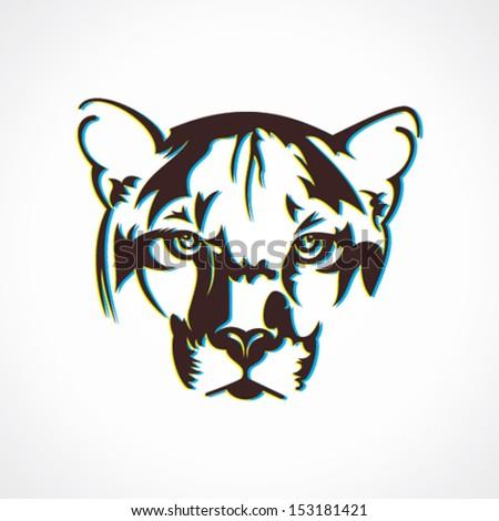 creative tiger  face design vector - stock vector