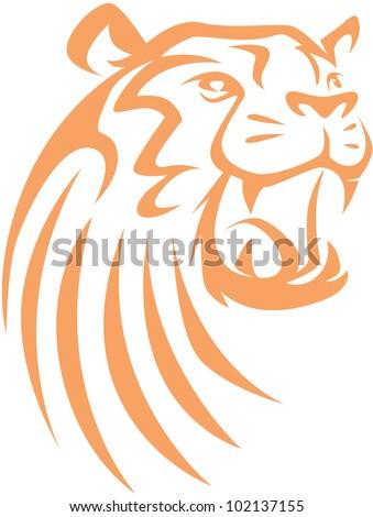 Creative Tiger Illustration - stock vector