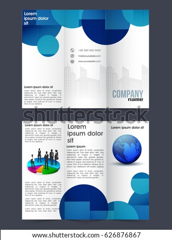 Creative Two Page Trifold Brochure Template Stock Vector - Two page brochure template