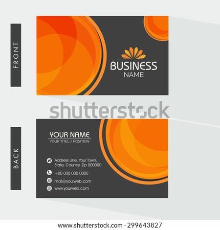 Creative two sided business card design stock vector hd royalty creative two sided business card design on grey background for your company or organization colourmoves