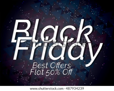 creative vector abstract for Black Friday Sale with nice and creative design illustration in a background.