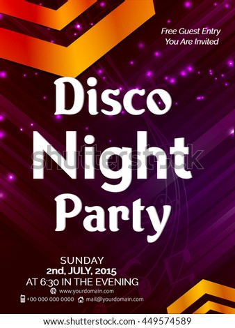 creative vector abstract for Disco Night Party with nice and creative design illustration in a background.