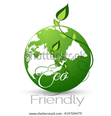 Creative vector abstract for Eco Friendly with nice earth illustration in a creative background.