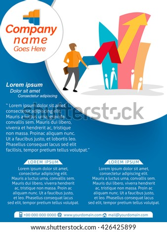 Creative vector design templates business nice stock for Nice brochure templates