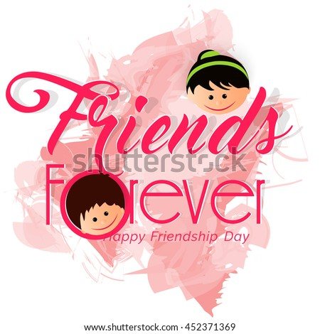 creative vector abstract for Happy Friendship Day with nice and creative design illustration in a background. - stock vector