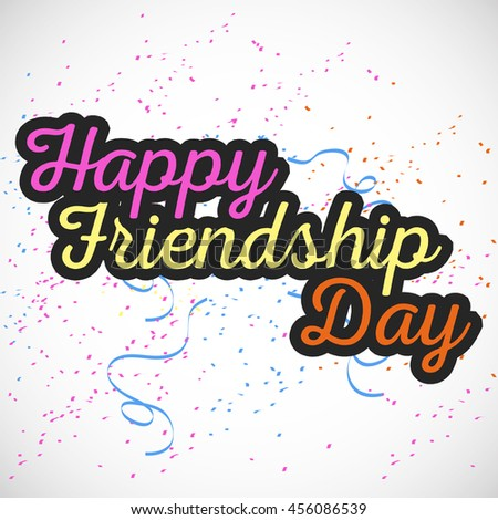 creative vector abstract for Happy Friendship Day with nice and creative design illustration in a background.
