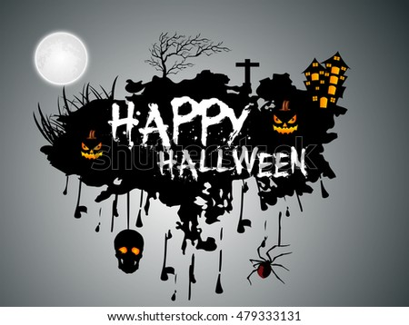 creative vector abstract for Happy Halloween with nice and creative haunted illustration design in a background.
