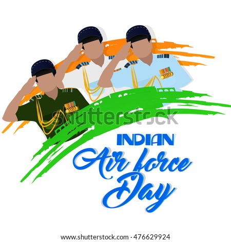 creative vector abstract indian air force stock vector