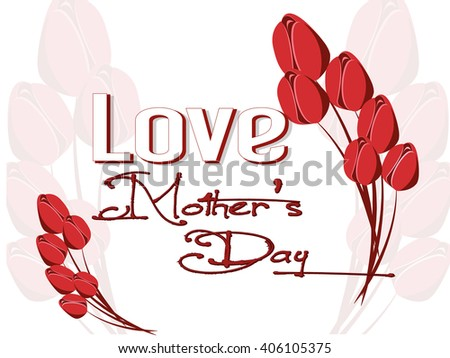 creative vector abstract for Mother's Day with nice and creative illustration in background.