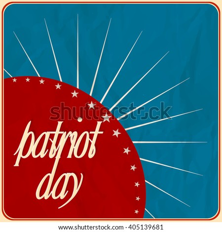 creative vector abstract for Patriot Day with nice and creative element in a textured blue coloured background.