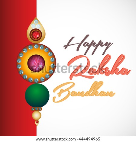 creative vector abstract for Raksha Bandhan with nice and creative rakhi illustration in a beautiful background.