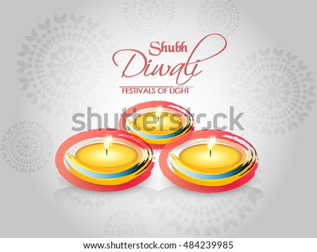 creative vector abstract for Shubh Diwali with nice and beautiful design templates illustration.