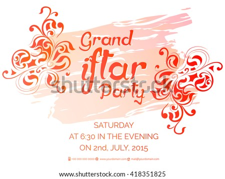 Creative vector abstract invitation eid iftar stock vector creative vector abstract or invitation for eid iftar party with nice and beautiful design in a stopboris Image collections
