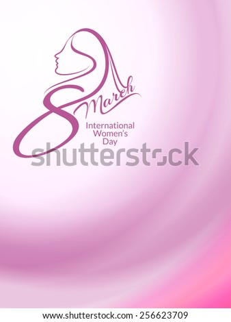 Creative vector background design of women's day.  - stock vector