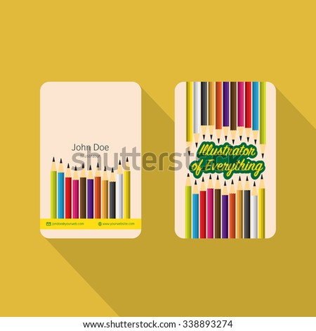 Creative vector business cards illustrators stock vector royalty creative vector business cards for illustrators colourmoves