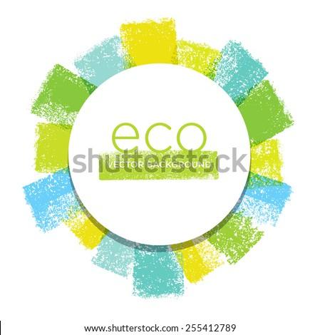 Creative Vector Eco Brush Stroke Background - stock vector
