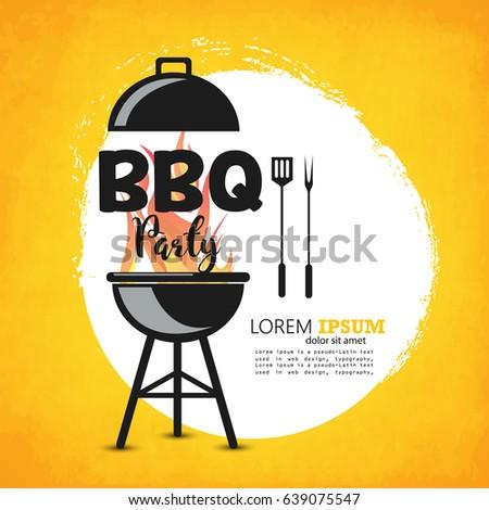 creative vector illustration barbecue party design stock vector