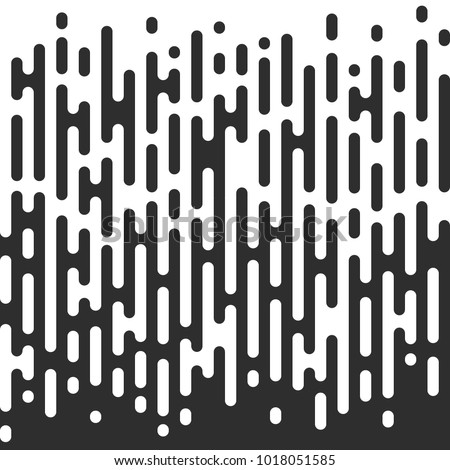 Creative vector illustration of black and white halftone transition seamless pattern background. Art design modern wallpaper irregular rounded lines. Abstract concept graphic element