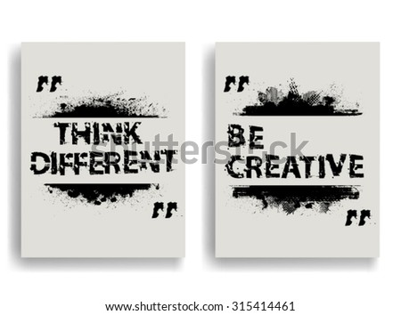 Creative Vector Inspirational Poster with Motivational Quote - Be Creative.