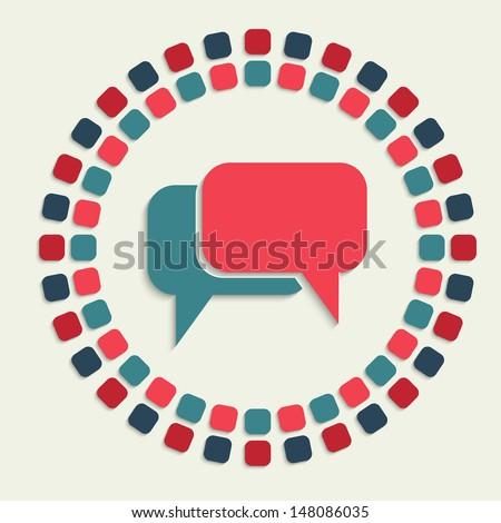 creative vector mosaic icon - stock vector