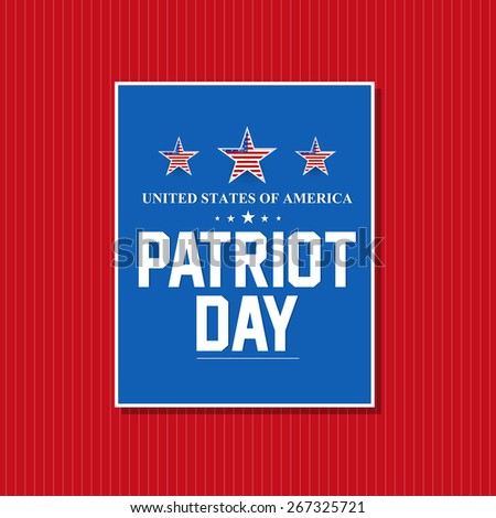 Creative vector of Patriot Day with nice and creative blue colour patch in a red colour background. - stock vector