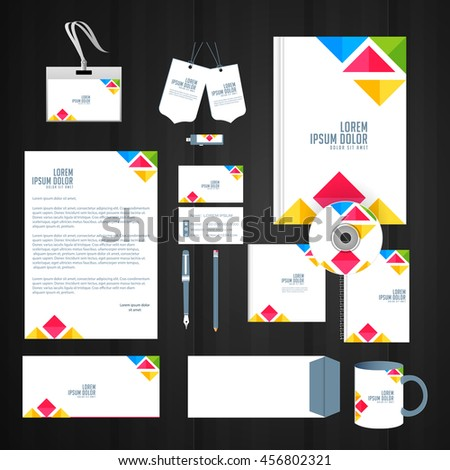creative vector office stationary design template illustration.