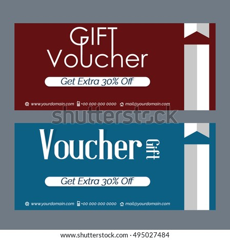 Creative vector template gift vouchers creative stock vector creative vector template for gift vouchers with creative design illustration yadclub Image collections