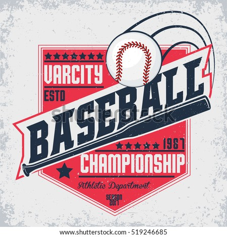 Softball sport graphic stock vector 138019808 shutterstock for Softball logos for t shirts