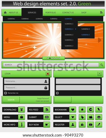 Creative web design elements set. Vector illustration