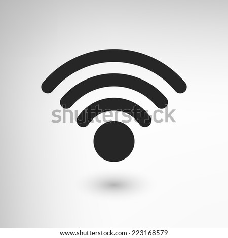 Creative WiFi icon element. EPS10 vector illustration. - stock vector