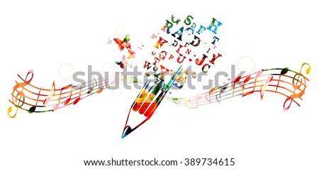 Creative writing concept - stock vector
