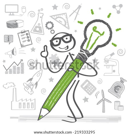 creativity and motivation lead to success - stock vector