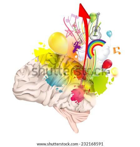 Creativity brain - stock vector