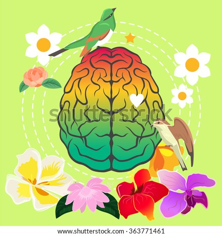 Creativity brain. Vector illustration - stock vector