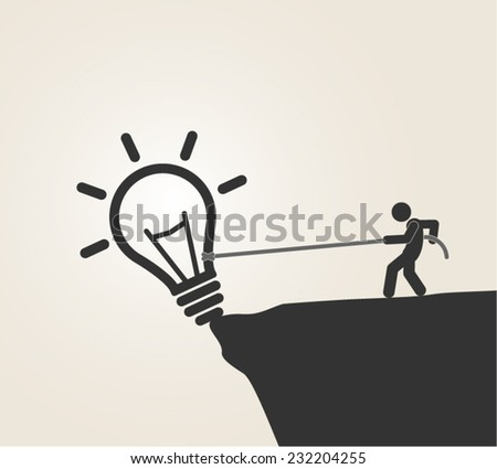 creativity inspiration great idea bright idea thinking solution answer progress vector illustration - stock vector