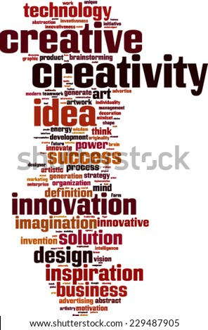 Creativity word cloud concept. Vector illustration - stock vector