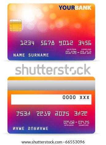 Credit Card Abstract Design - stock vector