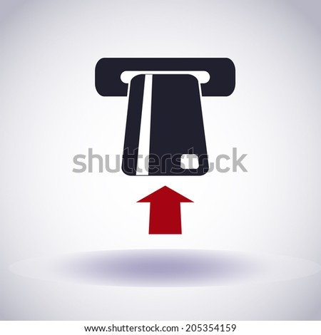 Credit card. Automated teller machine. Vector icon  - stock vector