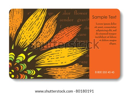 Credit card business card background design stock vector 80180191 credit card business card background design of standard size with a hand drawn flower and colourmoves