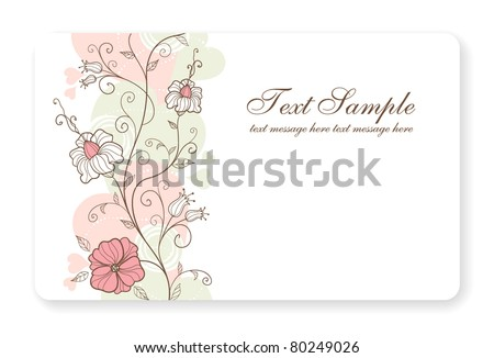 Credit card business card background design stock vector royalty credit card business card background design of standard size with a hand drawn flower and colourmoves