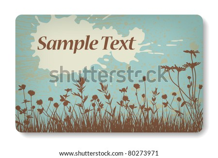 credit card / business card background design of standard size with a place for text message - stock vector