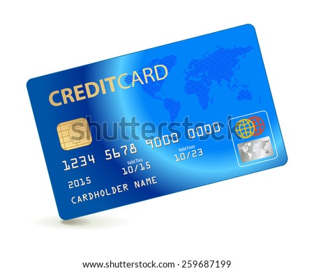 Credit card. Conceptual illustration. Vector illustration. Isolated on white background - stock vector