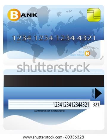 credit card design - stock vector