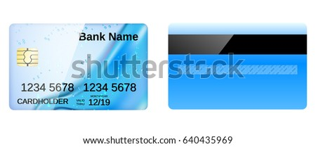 Credit card design with abstract background.